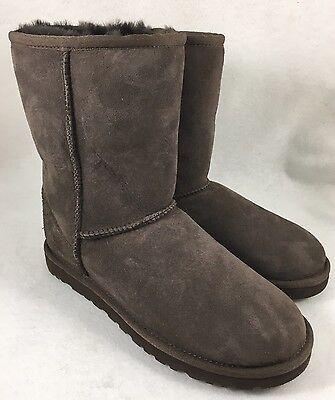 Ugg Australia Classic Short Boots Sheepskin Suede 5825 Chocolate Brown Womens