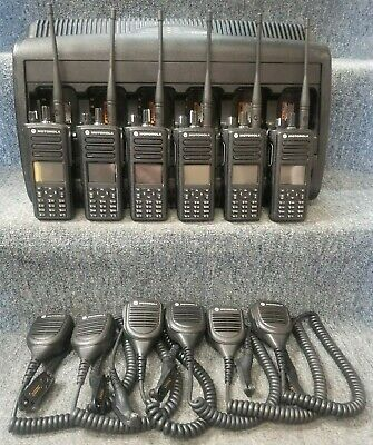 Motorola Xpr7580e 800 Mhz Digital Dmr Mototrbo Set Of 6 Radios Very Good