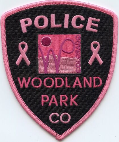 WOODLAND PARK COLORADO CO Breast Cancer Awareness PINK POLICE PATCH