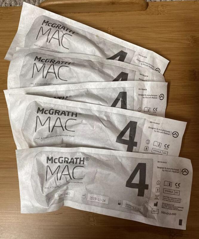 McGRATH™ MAC Laryngoscope Accessories, Size 4, Exp 11/14/22, Set Of 5