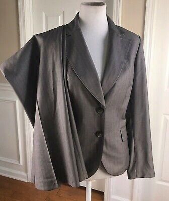 NINE WEST Women 2 PC Gray Striped Pant Suit Size 12