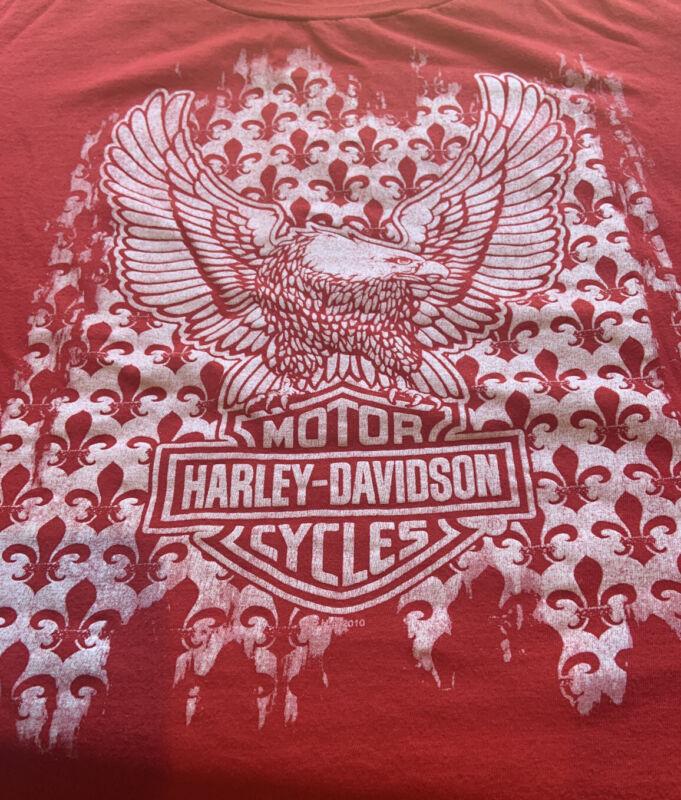 womens harley davidson shirts 2xl Red