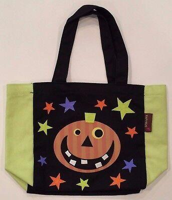 NEW! Happy HALLOWEEN Theme Trick or Treat Canvas Bag Purse Tote Pumpkin PAPYRUS