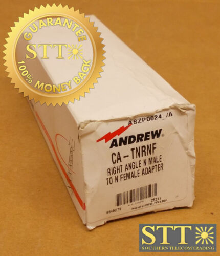 Ca-tnrnf Andrew Right Angle N Male/n Female Coaxial Adapter Connector New