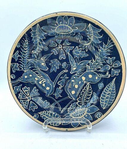 Vintage Mexican  Pottery Shallow Bowl / Plate Fantasia Tlaquepaque Tonala