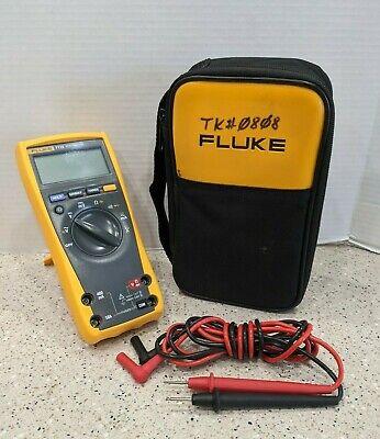 Genuine Fluke 77 Iv Digital Multimeter 77-4 W Fluke Leads And Case 77 Iv