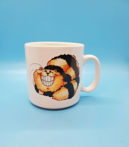 Vintage RUSS Berrie Coffee Mug Tea Cup Keep Smiling Smiling Cheshire Cat