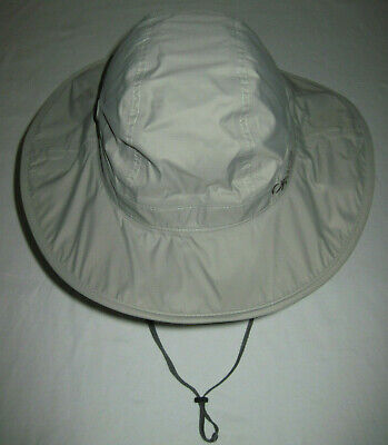 13ed0bf265a5e Outdoor Research Sombrero Waterproof Hat Medium Tan Drawstring   Chin Strap