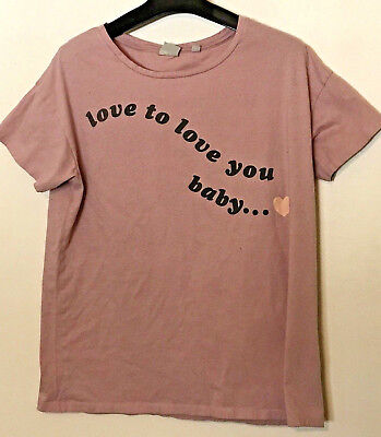Junk Food Womens Pink Love to Love You Baby T-Shirt Size Small Babe Womens Pink T-shirt