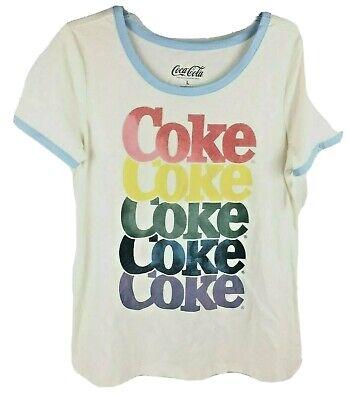 Coca Cola Womens Rainbow Coke T Shirt Large