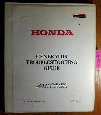 Honda Generator Troubleshooting Guide Manual Ns405 294 Ex Em Eg Eb E Ems Ev