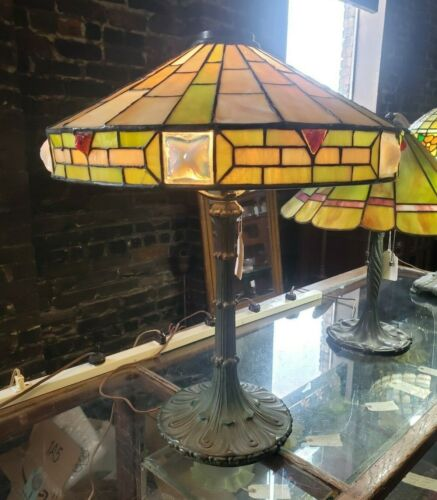 Antique Signed Wilkinson Glass Lamp
