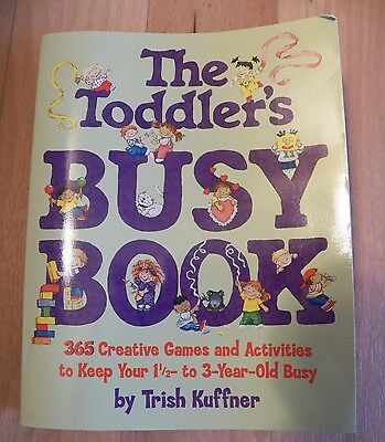 THE TODDLERS BUSY BOOK ~ Paperback Book Kids Small Children Game Crafts Science Childrens Busy Book
