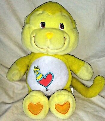 Care Bear Cousins Playful Heart Monkey 13 Inches Tall Plush Animal 2004 Yellow for sale  Shipping to Canada