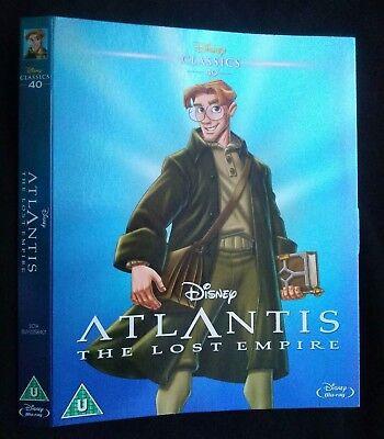 Disney Blu ray Dvd Atlantis the lost empire. NO DVD. SLIPCOVER