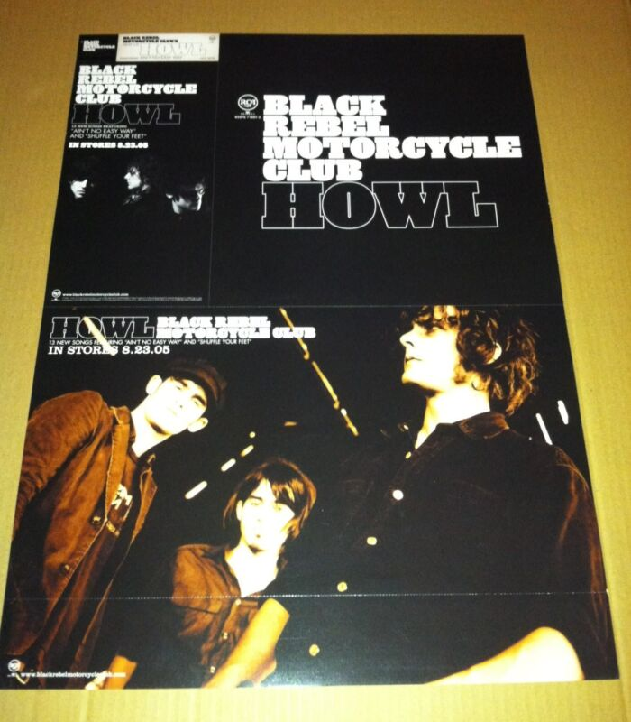 BLACK REBEL MOTORCYLCE CLUB HOWL 2005 PROMO POSTER for Howl CD THICK STOCK PAPER