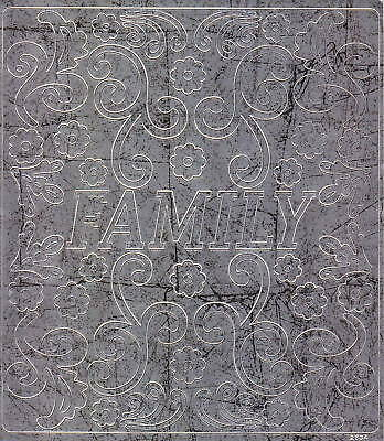 Scrapbook-Sticker-Family-Ornamente-antik/silber-M-2834s