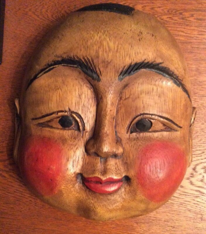 Mask Japanese Old mask Edo Period