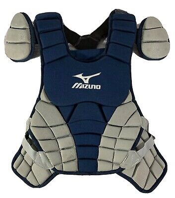"""Mizuno Baseball Catcher Gear Chest Pad Kids Youth 14"""" - Removable Wing"""