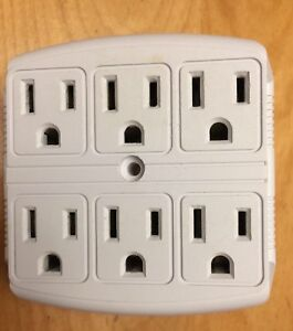 6 AC Outlet  Wall adaptor - Adaptateur AC 6 prises