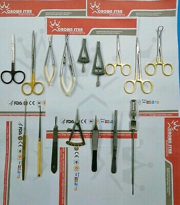 Basic Plastic Surgery Instruments Set Of 16pcs Plastic Surgery German Steel Ce