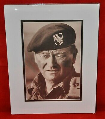 John Wayne Double-Matted Heavy Stock Photo Display 12