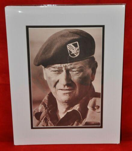 "John Wayne Double-Matted Heavy Stock Photo Display 12"" x 16"" ""The Green Berets"""