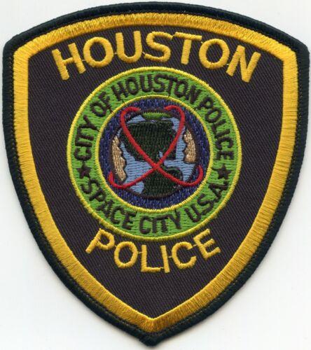 HOUSTON TEXAS TX Black Background POLICE PATCH