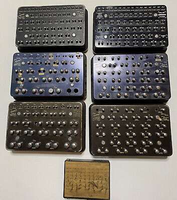 Horberg Co. Bridgeport Conn. Drill Size Pin Gage 6 Sets 1 Fractions 5 -numbers