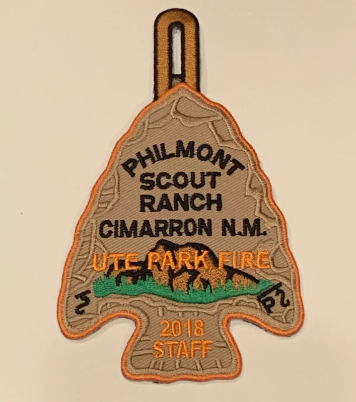 Rare 2018 Staff Patch (1 per Staff Member during Fire) Philmont Scout Ranch Mint