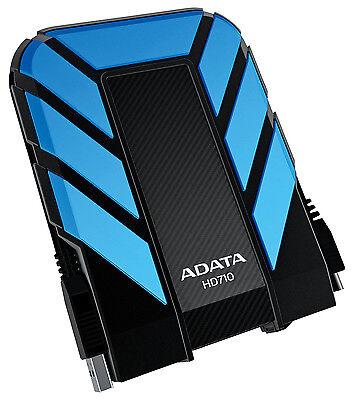 Disco rigido da 1TB Portable USB 3.0 di AData DashDrive durevole HD710 (blu/nero