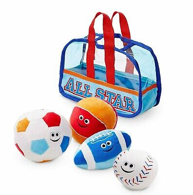 Spill Plush Baby Toy - Melissa & Doug First Play Sports Bag Fill and Spill Baby and Toddler Toy