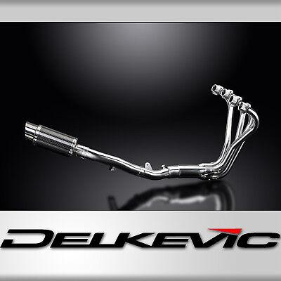 "Honda CB1100A Full 4-1 Mini 8"" Carbon Fiber Round Muffler Exhaust 13 14"