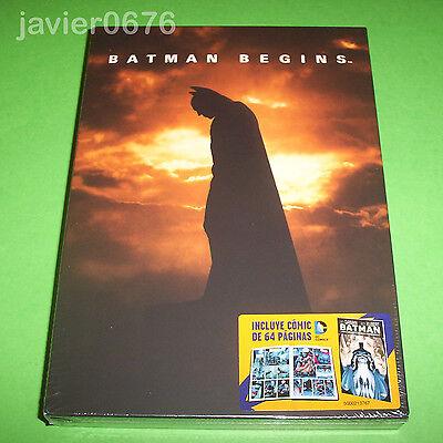 BATMAN BEGINS DVD NUEVO Y PRECINTADO INCLUYE COMIC 64 PAGINAS