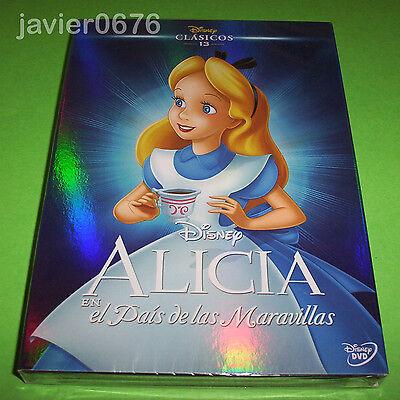 ALICIA EN EL PAIS DE LAS MARAVILLAS CLASICO DISNEY 13 - DVD...