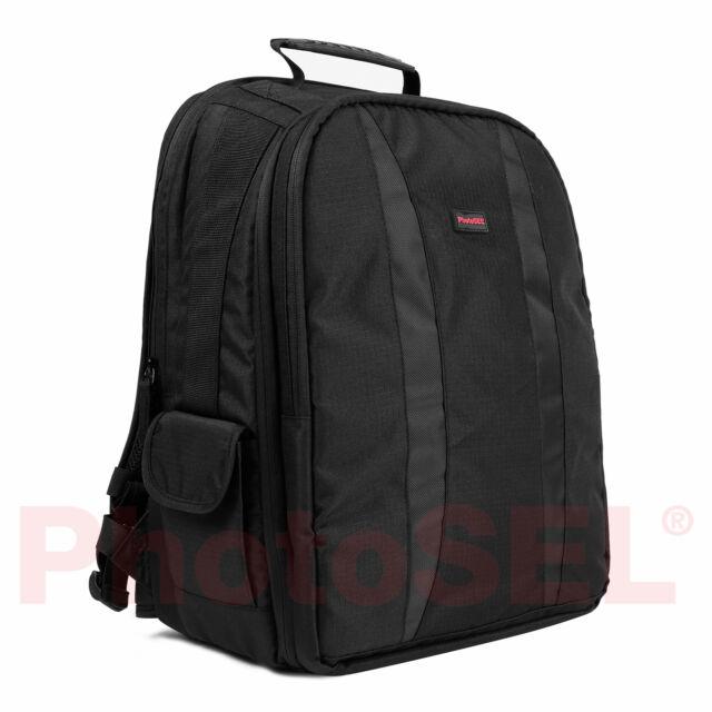 PhotoSEL BG401 DSLR Camera Backpack & Laptop Rucksack Bag Case Canon Nikon Sony