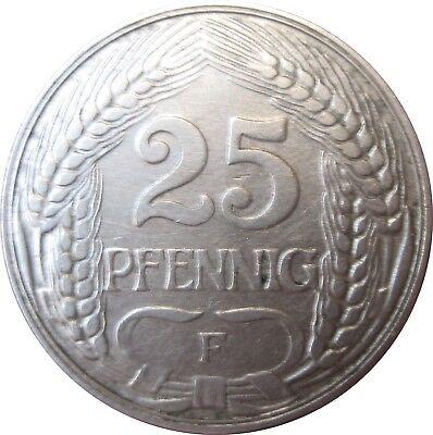 J 18  25 Pfennig Kaiserreich von 1910 F in SS-VZ   666 175