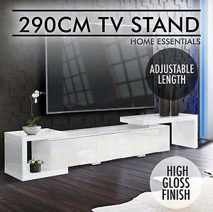 High Gloss TV Stand Entertainment Unit Adjustable 290cm New Perth Perth City Area Preview