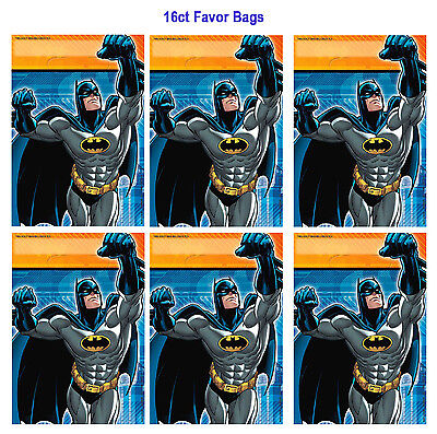Batman Folded Loot /Treat / Favor /Gift Bags Birthday Decorations Party - Batman Gift Bags