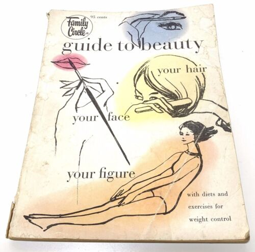 Vintage 1964 Family Circle Guide To Beauty Magazine Paperback Hair Makeup Diet