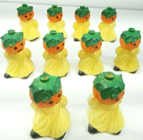 Halloween Blow Mold Light Covers Vtg Ghost Pumpkin Summit 1922 Lot Of 10 Boooooo
