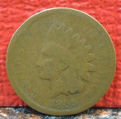 COLLECTABLE BETTER DATE 1865 PLAIN 5 INDIAN HEAD PENNY / CENT