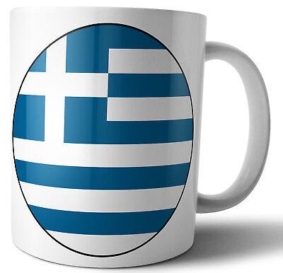 Grecia Griego - Bandera Té - Café - Taza - Taza -Cumpleaños-Navidad-Regalo