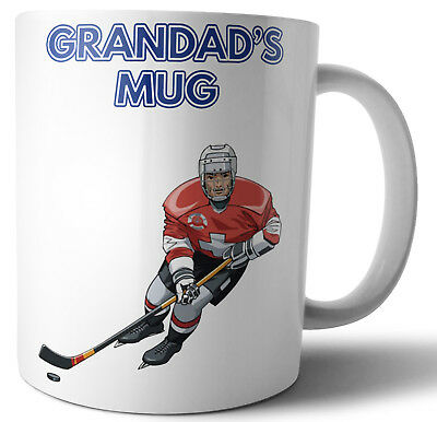 Father's Day or Birthday Card / Gift - Ice Hockey Themed - For Grandad - Hockey Themed Gifts