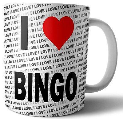 Ich Liebe Bingo Tee - Kaffee - Becher - Tasse - Geburtstag - Weihnachten -