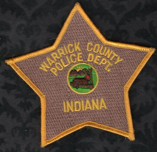 👀😜😊👍   Warrick County Indiana Police Shoulder Patch