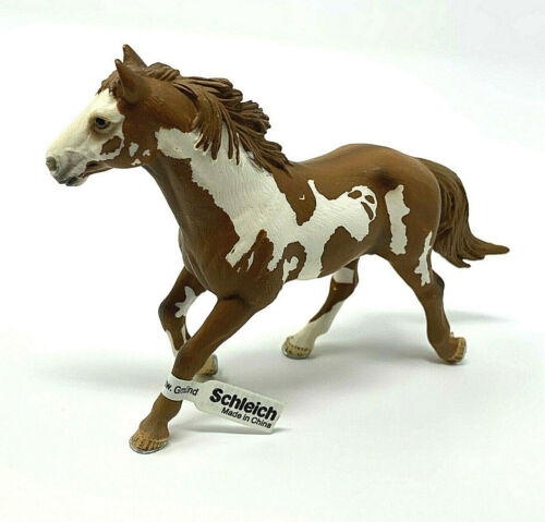 Schleich Painted Pinto Stallion Horse (13616) Brown & White New w Tag from 2006
