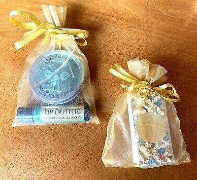 Honey House Naturals Set Bee Bar Meadow .6oz Lotion Peppermint Lip Butter & Soap