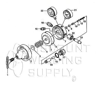 Repair Kit - Victor Sr410 Acetylene Regulator Seat 410 - Rebuild Av410rk