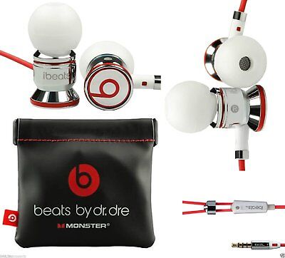 Genuine Monster Beats, Beats by Dr. Dre iBeats Headphones - White